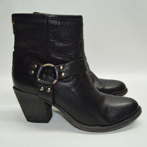 FRYE Tabitha Harness Moto Boots Booties 8